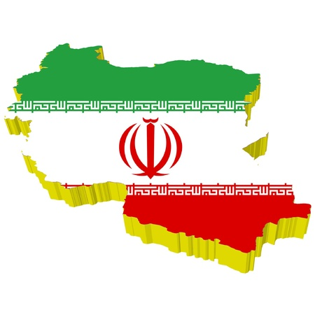 vectors 3D map of Iran