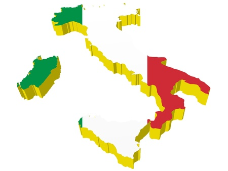 vectors 3D map of Italy   Vector