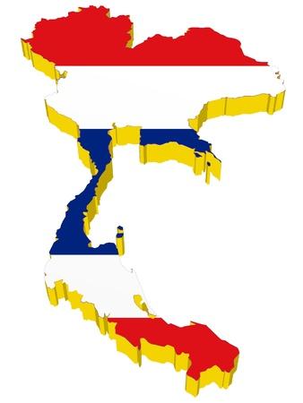 vectors 3D map of Thailand Stock Vector - 13317494