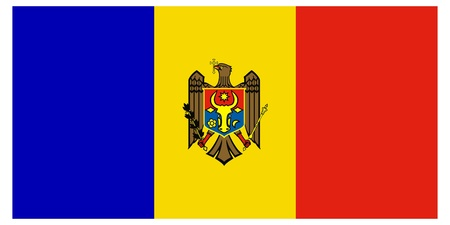 Vector illustration of the flag of  Moldova