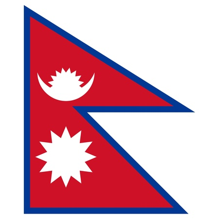 Vector illustration of the flag of Nepal Stock Vector - 13340876
