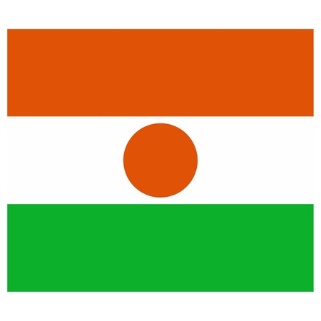 Vector illustration of the flag of Niger   Vector