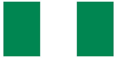 Vector illustration of the flag of  Nigeria  Vector