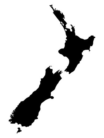 Vector illustration of maps of New Zealand  Illustration