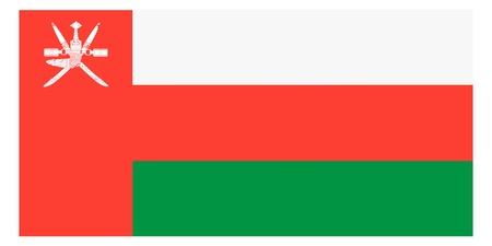 Vector illustration of the flag of  Oman