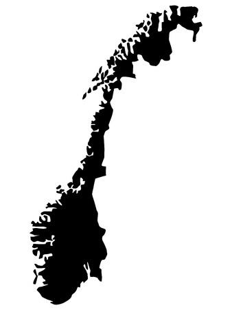 Vector illustration de cartes de la Norvège
