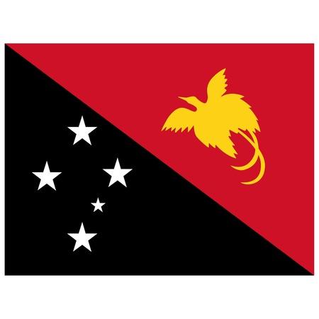 papouasie: Vector illustration du drapeau de la Papouasie-Nouvelle-Guin�e Illustration