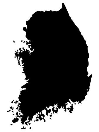 Vector illustration of maps of  Republic of Korea