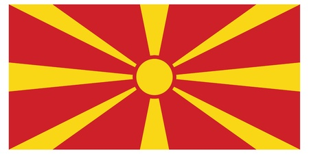Vector illustration of the flag of Republic of Macedonia    Vector