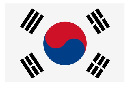 Vector illustration of the flag of Republic of Korea