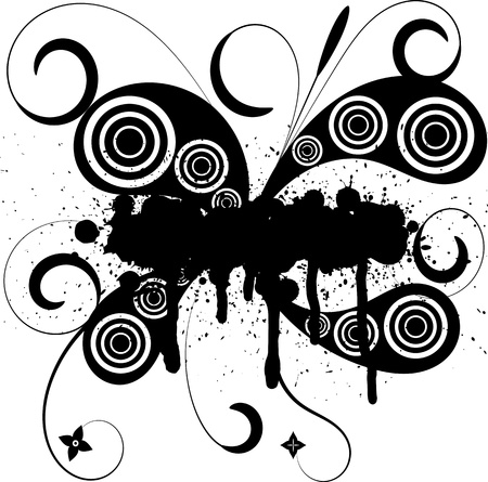 Vector illustration of abstract grunge tattoo Vector