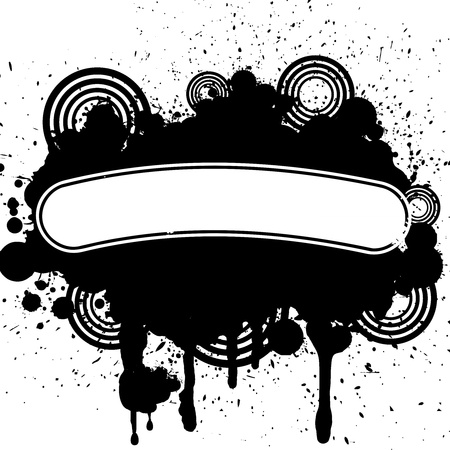 Vector design of abstract grunge tattoo Vector