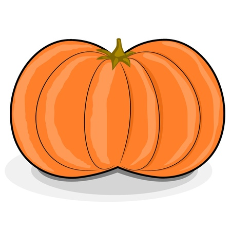 Vector illustration of cartoon pumpkin Vector
