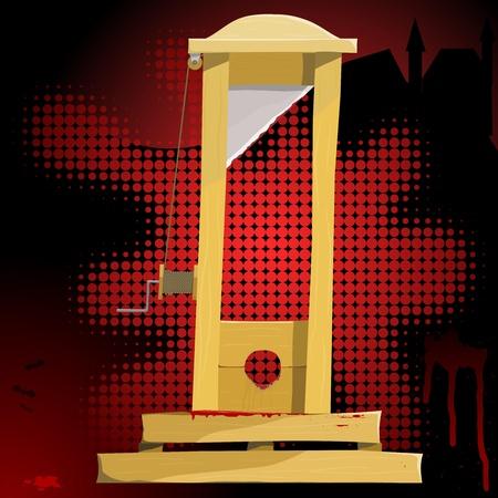 capital punishment: Vector illustration of a guillotine. EPS10 Illustration