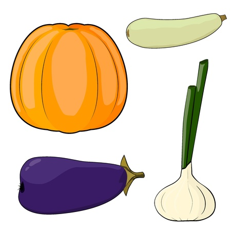 Set of vegetables. EPS10 Stock Vector - 13554334