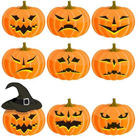 Set Kürbisse für Halloween. EPS10