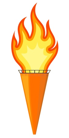 illustration of a cartoon torch   Stock Vector - 17657754