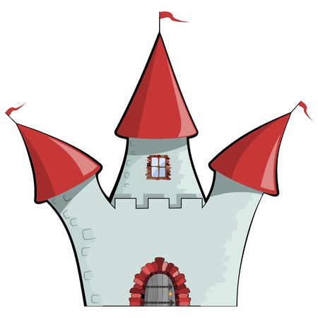 illustration of cartoon castle   Stock Vector - 17657733