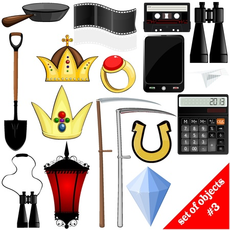 drawing of a set of objects Stock Vector - 17657735