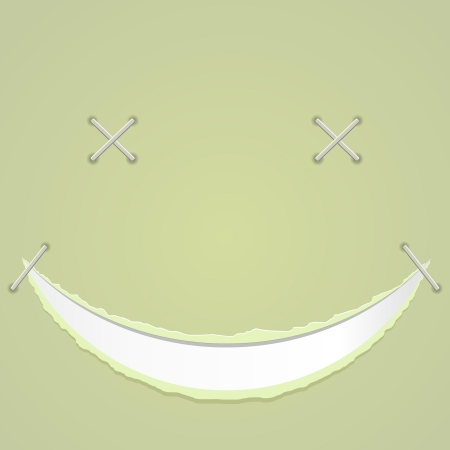 illustration of a smile on paper Stock Vector - 14219002