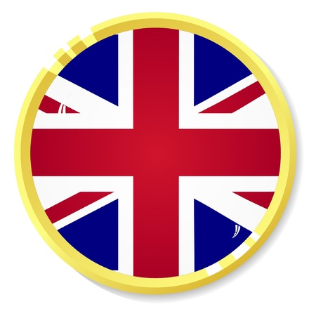 button with flag United Kingdom Vector