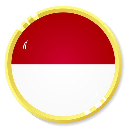 indonesia culture: button with flag Indonesia
