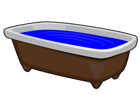 cleaning bathroom: Vector Image of Bath Illustration