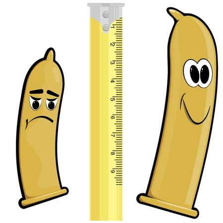 sexual education: Los condones de dibujos animados Vectores