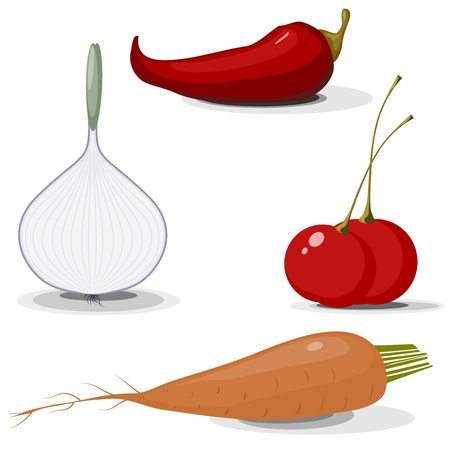 Collection of vegetables Stock Vector - 14484486