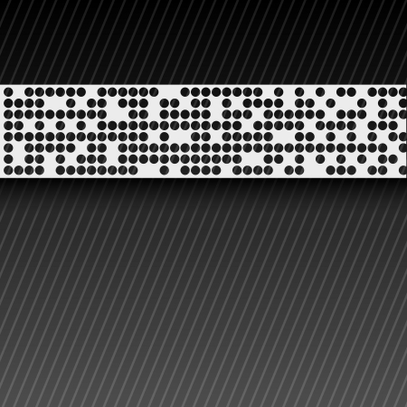 bstract: bstract perforated paper tape