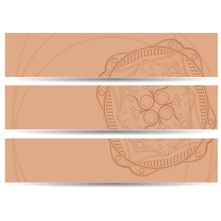set of vector horizontal banners hand drawing  Vector