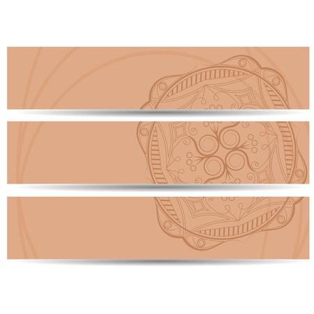 set of vector horizontal banners hand drawing Stock Vector - 14484489