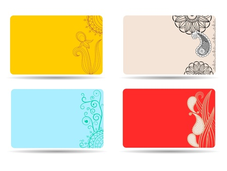 A set of cards with ornaments Stock Vector - 14484771