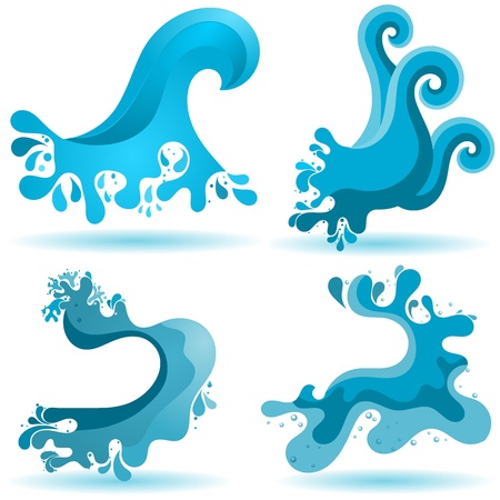 Un ensemble de signes de l'eau