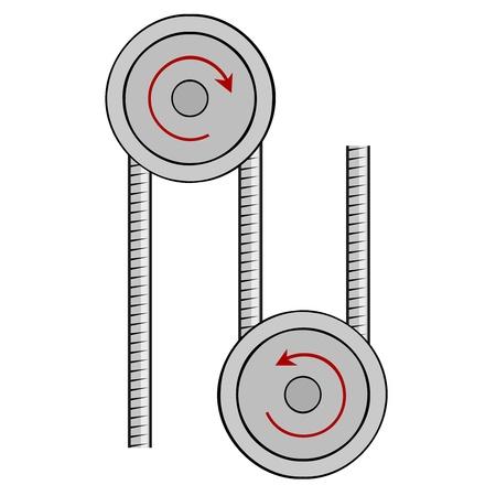 pulley: Illustration pulley Illustration