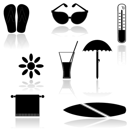 Set of icons.  Vector