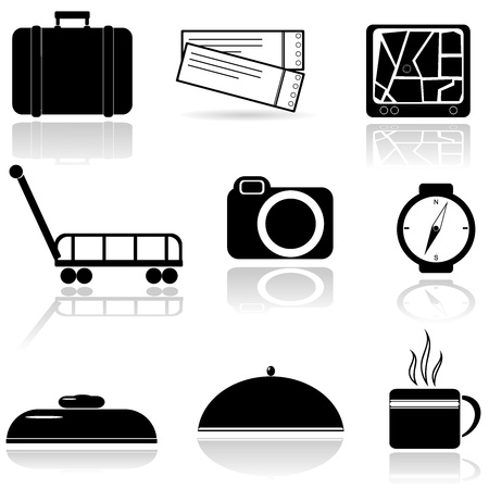 A set of icons Stock Vector - 14972489