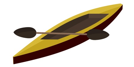 Illustration canoe paddle Vector