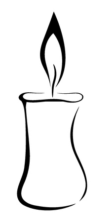 burning paper: Vector symbol of candle