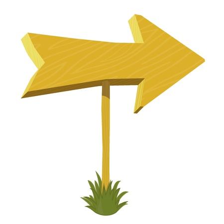 Vector wooden arrow Stock Vector - 15522651