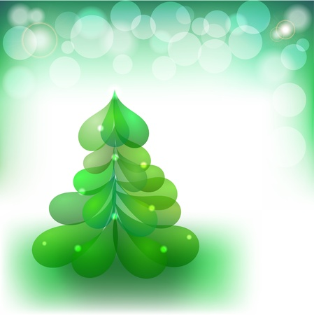 Christmas background with the image of the Christmas tree Stock Vector - 15421136