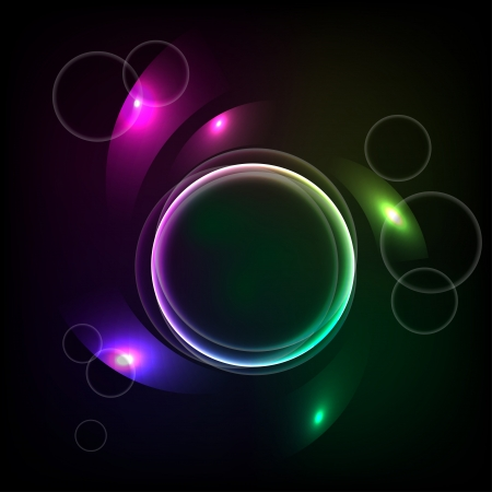 Abstract background with the ball and the color elements.  Vector