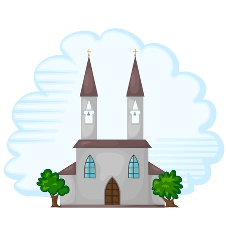 Cartoon illustration of the temple. eps10 Vector