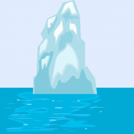 Iceberg in the sea. eps10 Vector