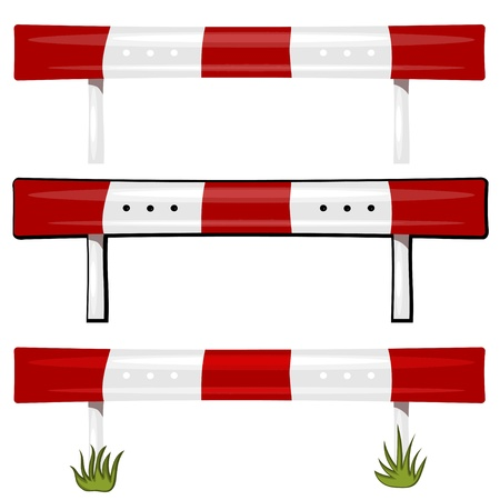 Illustration of a guardrail. eps10  Vector
