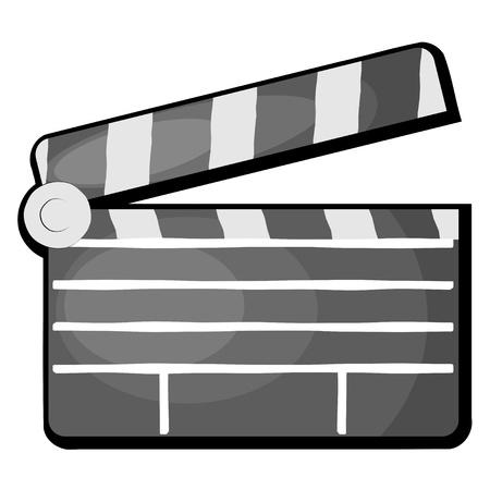 movie clapper: Movie batacchio. eps10 Vettoriali