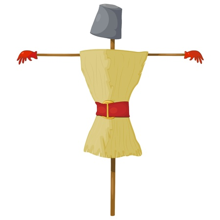 Illustration straw scarecrow. eps10 Vector