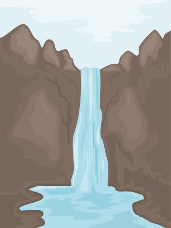 Illustration of a waterfall. eps10
