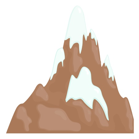european alps: Illustration of a mountain range. eps10