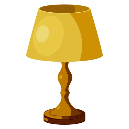 the shade: Yellow lamp with shade. eps10 Illustration